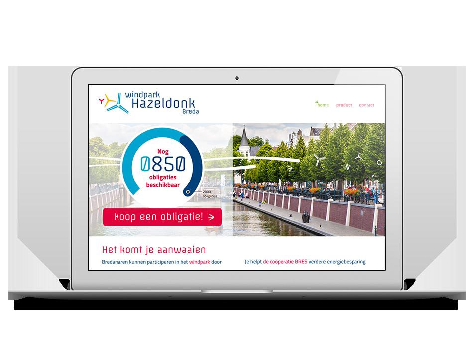 Windpark Hazeldonk campagne website