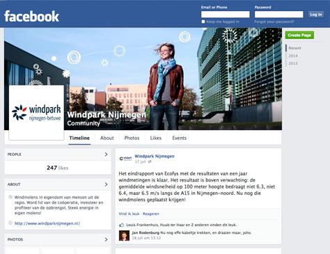 Windpark Nijmegen-Betuwe - facebook