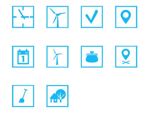 Windpark Nijmegen-Betuwe - pictogrammen