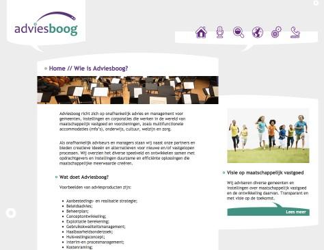 Adviesboog // website home