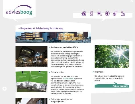 Adviesboog // website projecten