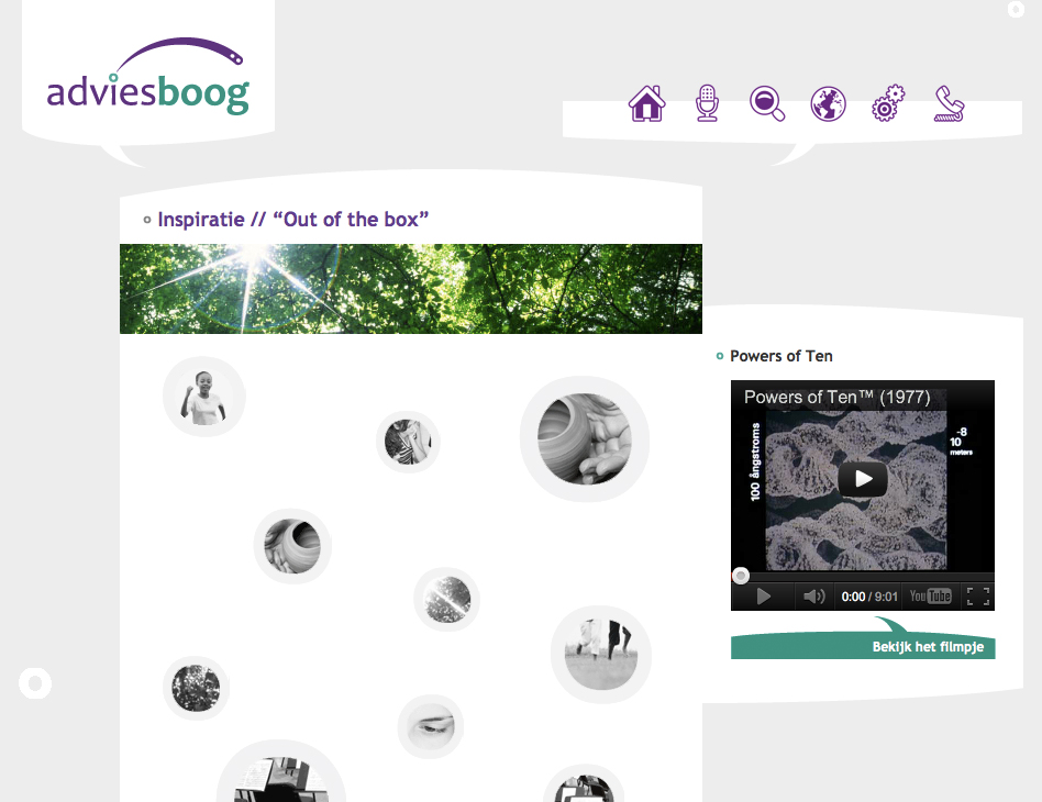 Adviesboog // website inspiratie
