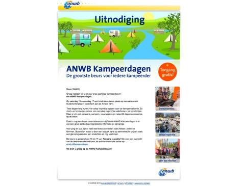 ANWB emailing Kampeerdagen