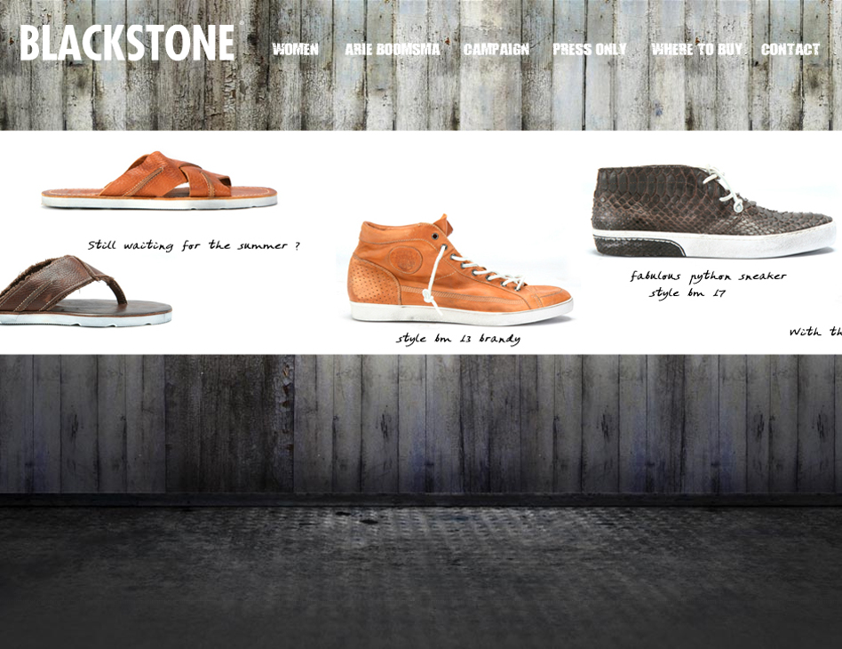 Blackstone Fashion // website men