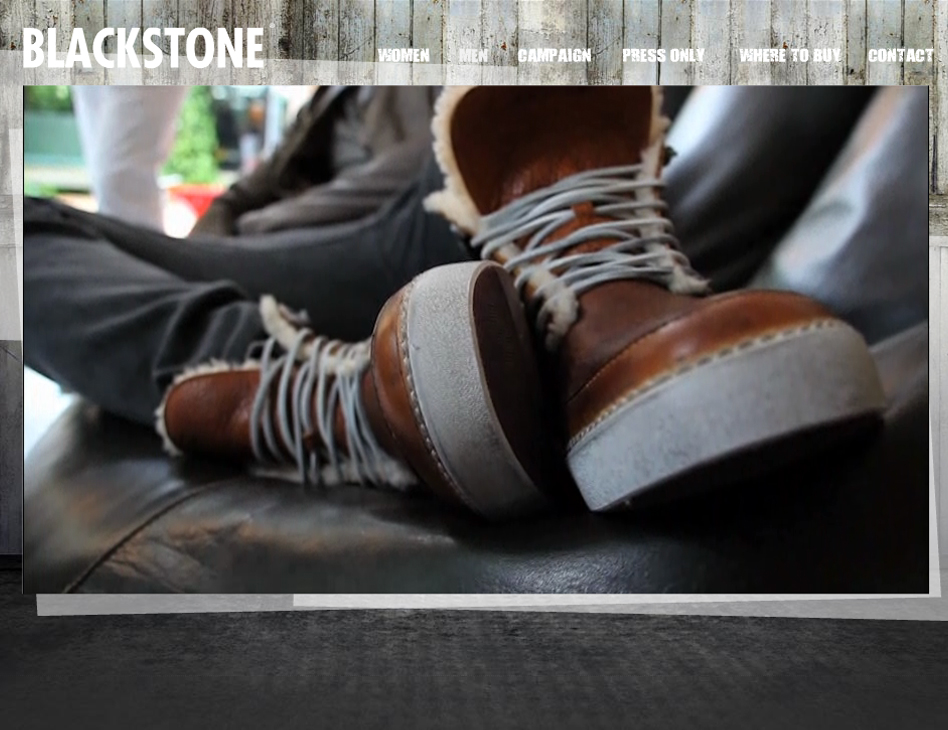 Blackstone Fashion // website videopage