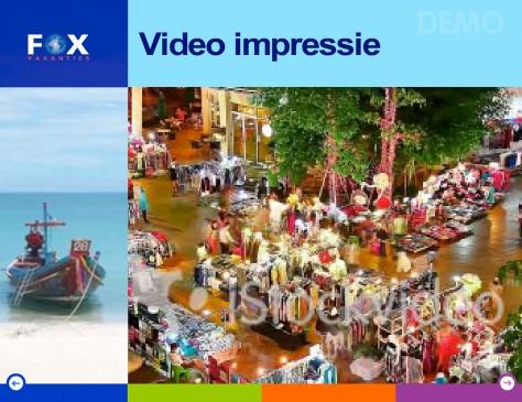 FOX // presentatie video scherm