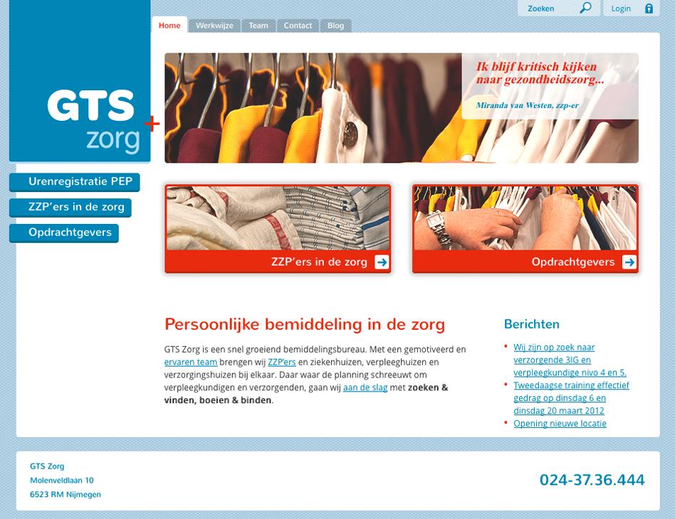 GTS Zorg // website home