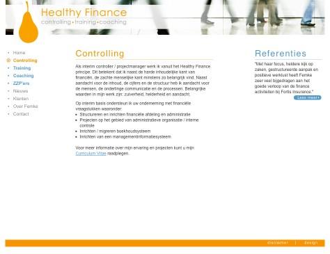 Healthy Finance // website controlling