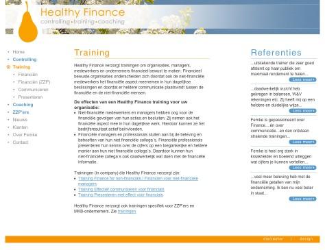 Healthy Finance // website training