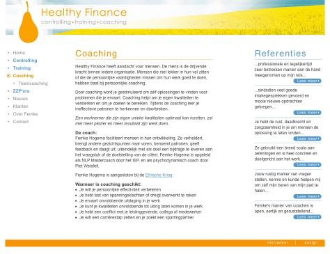 Healthy Finance // website coaching