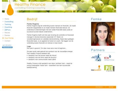 Healthy Finance // website Femke