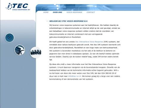 ITEC // website over ITEC