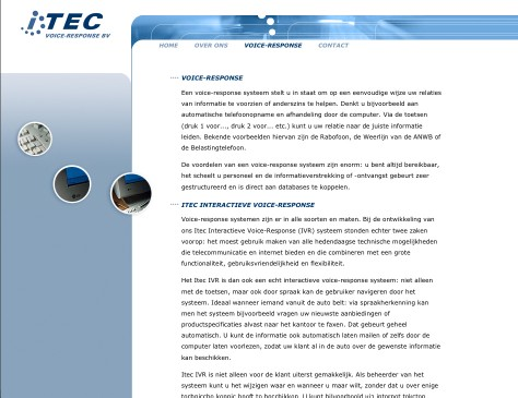 ITEC // website Voice Responce