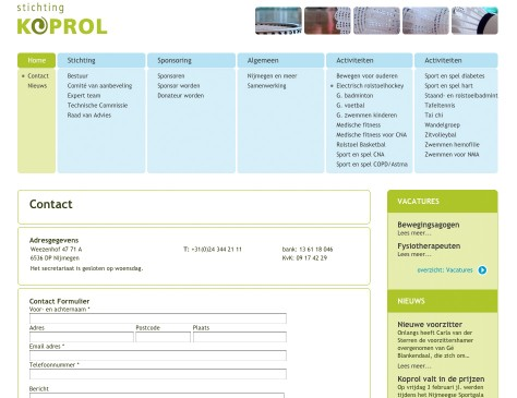 Stichting Koprol // website contact