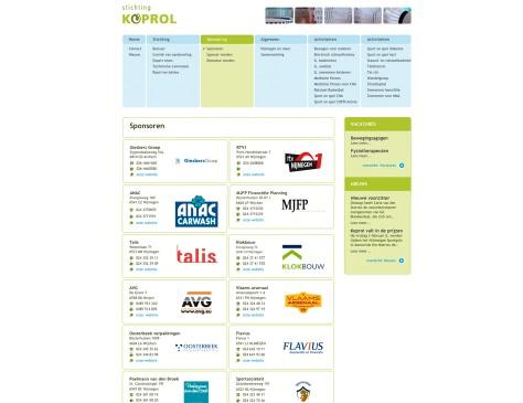Stichting Koprol // website sponsors
