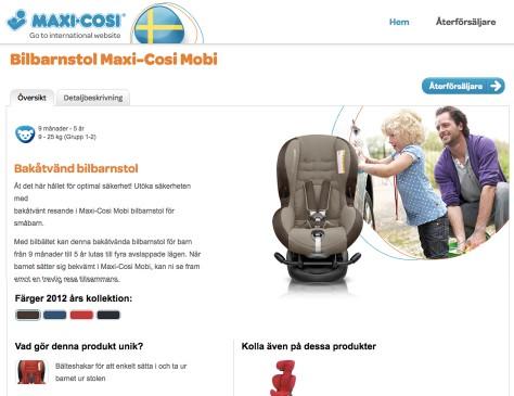 Maxi-cosi // microsite Zweden home