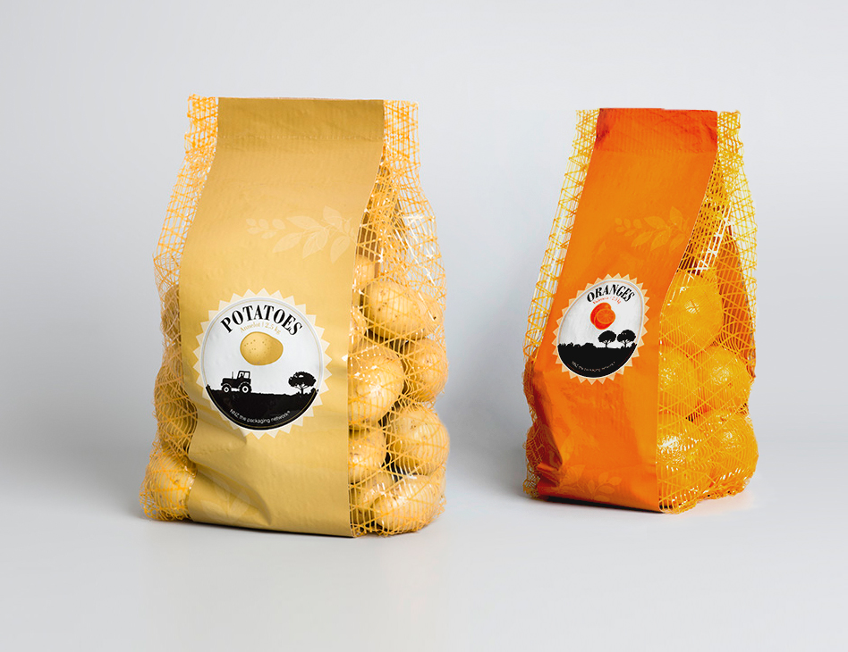 NNZ Packaging // demo pack potato & orange