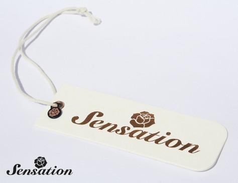 Sensation // hangtag