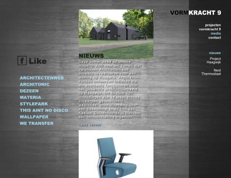 Vormkracht 9 // website media