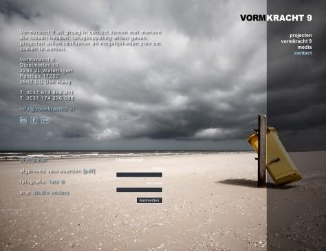 Vormkracht 9 // website contact