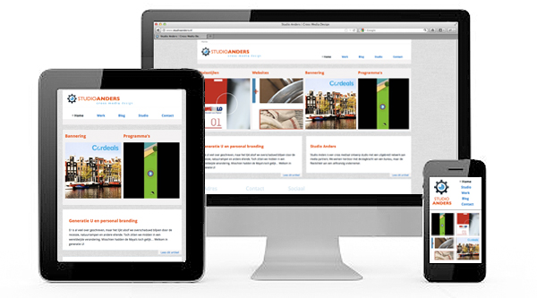 Voorbeeld responsive website ontwerp